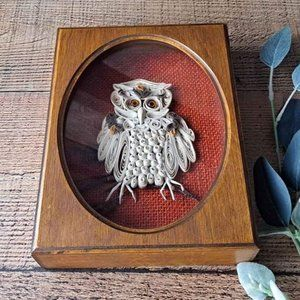 Vintage Boho Owl Quil Print - Handmade
